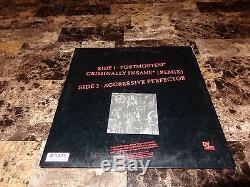 Slayer RARE Signed Criminally Insane Vinyl EP LP Kerry King Heavy Metal + Photo
