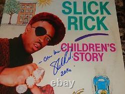 Slick Rick Rare Autographed Signed Vinyl Record Children's Story Rap Hip Hop BAS