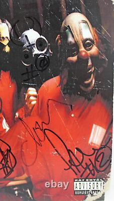 Slipknot (6) Gray, Root, Jordison +3 Signed Album Cover With Vinyl BAS #A39217