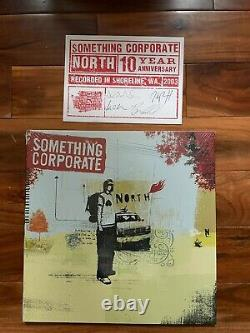 Something Corporate North Vinyl LP Sky Blue Sealed Limited, Signed Postcard