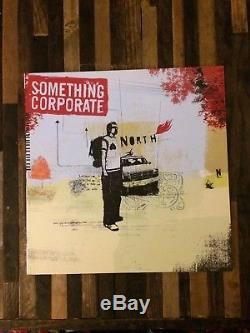 Something Corporate North Vinyl Sky Blue Record, Autographed Postcard, Rare