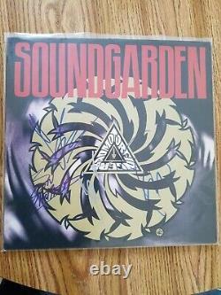Soundgarden Badmotorfinger Vinyl Band Signed Chris Cornell