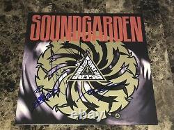 Soundgarden Rare Band Signed Badmotorfinger Vinyl Record Chris Cornell + BAS LOA