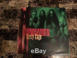 Soundgarden Rare Band Signed Rusty Cage 12 Vinyl LP Record Chris Cornell + COA