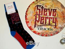 Steve Perry Autographed traces Deluxe fire colored VINYL SIGNED Journey Socks