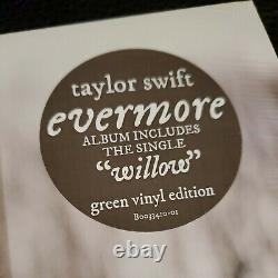TAYLOR SWIFT Evermore Deluxe Green 2LP (Webstore Version) & Signed CD NEW