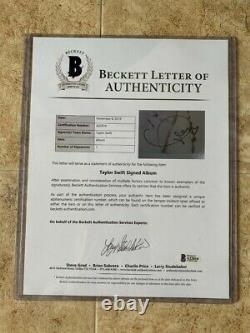 TAYLOR SWIFT Signed Autograph 1989 Vinyl Record Album BECKETT Authenticated BAS