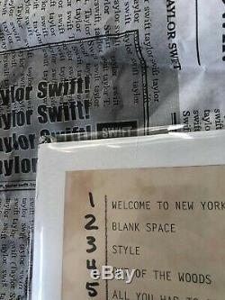 Taylor Swift 1989 Signed Autographed Pink RSD Vinyl Read Description