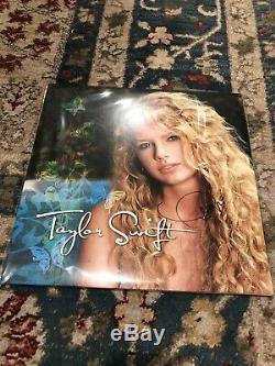 Taylor Swift Autograph Signed Turquoise Vinyl LP