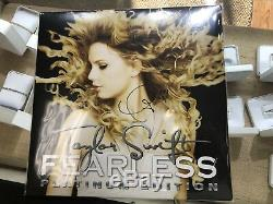 Taylor Swift Fearless Platinum Edition Signed Autographed LP Gold Vinyl Record