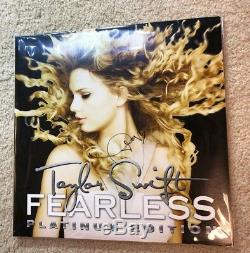 Taylor Swift Hand Signed Autographed Fearless Album 12 Lp Vinyl Authentic Proof