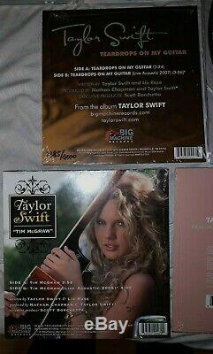 Taylor Swift SIGNED Lover CD + Vinyl 6x7 + 2x12 /4000 Tim Mcgraw Teardrops Me