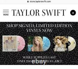 Taylor Swift Signed Fearless Vinyl LP Autographed Gold Record Rare 1/250