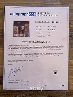 Taylor Swift Signed Red Vinyl with Inscription ACOA Ceritified