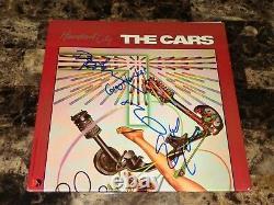 The Cars Rare Band Signed Autographed Heartbeat Vinyl LP Record Ric Ocasek + COA