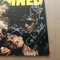 The Damned Damned Damned Damned SIGNED vinyl LP