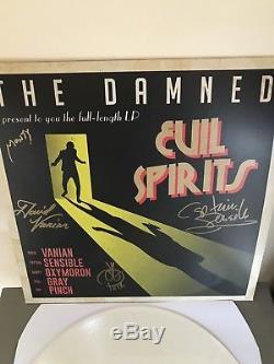 The Damned Evil Spirits Signed White Vinyl Brand New Limited To 1000