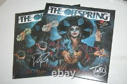 The Offspring Let The Bad Times Roll SIGNED/AUTOGRAPHED Sky Blue Vinyl/Record
