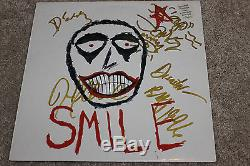 The Smashing Pumpkins 12 Vinyl SMILE signed by Billy Corgan, Jimmy, James, Darcy