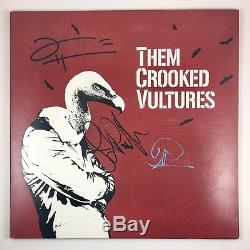 Them Crooked Vultures Dave Grohl John Paul Jones Signed Autographed Vinyl