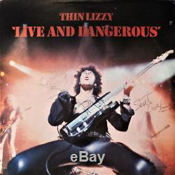 Thin Lizzy Live and Dangerous Vinyl Record SIGNED Phil Lynott, Brian and Scott