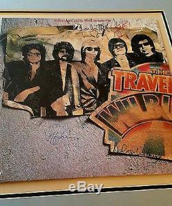 Traveling Wilburys signed vinyl George Harrison (the Beatles), TOM PETTY Roy+1