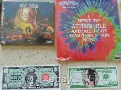 Travis Scott Astroworld LP Vinyl CD signed Lithograph Lenticular Tour Money Bag