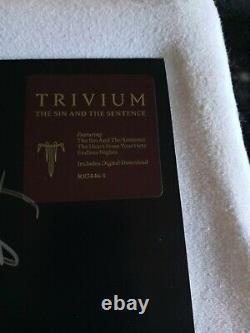 Trivium band signed vinyl
