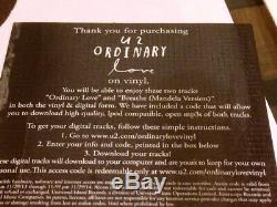 U2 Ordinary Love 10 RSD Promo Vinyl Signed By Bono, The Edge & Adam Clayton