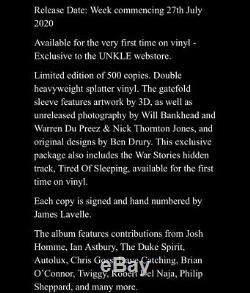 Unkle War Stories Instrumentals Splatter Limited Vinyl /500 Signed Numbered Lp