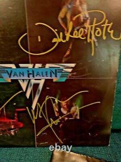 Van Halen 1 Debut Authentic Autographed 12 Vinyl Lp Record Signed By All 4 Orig