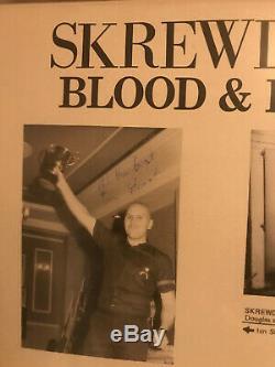 Very very rare signed vinyl LP punk skinhead isd oi