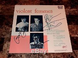 Violent Femmes Rare Band Signed 1983 Debut Vinyl LP Record Alternative Original