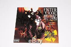 WU-TANG CLAN GROUP SIGNED ENTER THE 36 CHAMBERS VINYL RECORD WithCOA RZA GZA X8