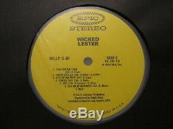 Wicked Lester Debut LP 1972 Epic Records / KISS Vinyl Record WithPromo Swag-Signed